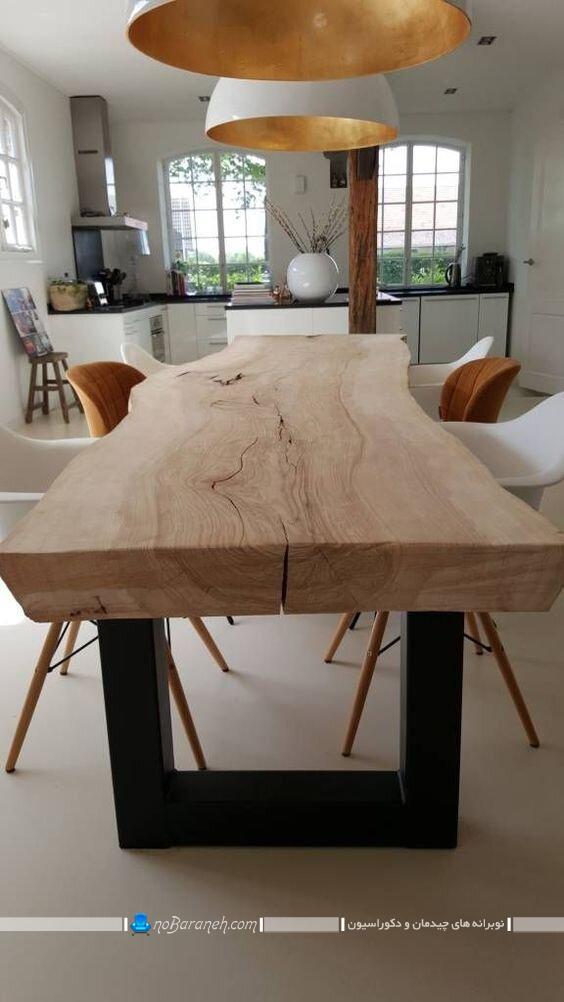 عکس مدل میز ناهارخوری چوبی و کلاسیک شیک