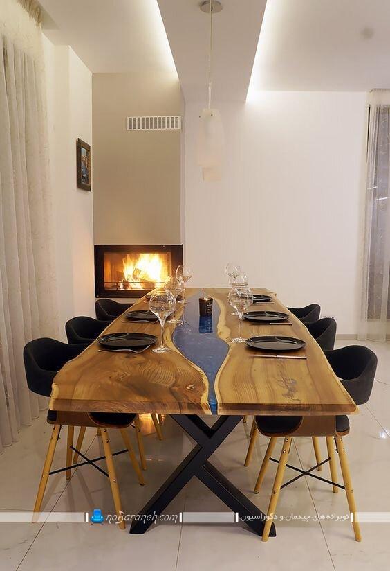 مدل های جدید میز ناهارخوری چوبی مدرن شیک