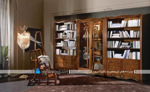 بوفه تزیینی چوبی و بزرگ کلاسیک در مدل های جدید با عکس و تصویر