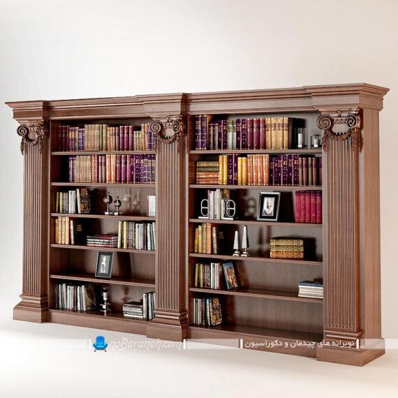 عکس کتابخانه و ویترین های کلاسیک و سلطنتی