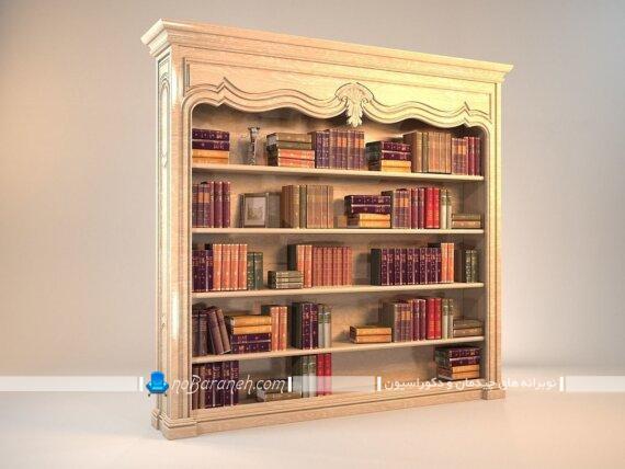 کتابخانه خانگی کلاسیک و ساده. عکس مدل های شیک و سلطنتی کتابخانه چوبی کوچک