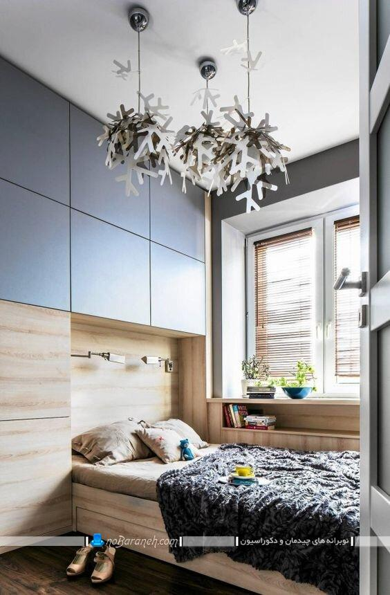کمد دیواری چوبی برای اتاق خواب کوچککمد دیواری چوبی برای اتاق خواب کوچک مدرن شیک ساده ارزان قیمت