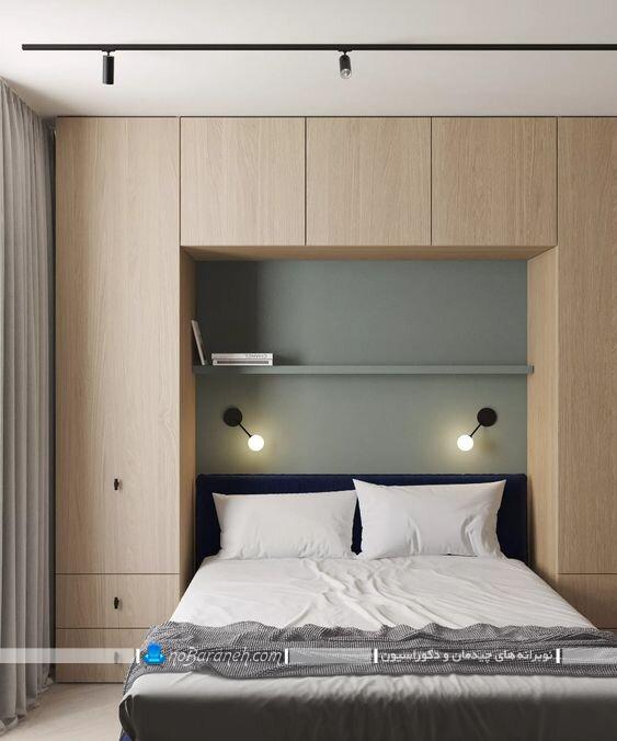 کمد دیواری و باکس ساده و ارزان قیمت برای اتاق خواب. مدل های جدید کمد چوبی اتاق خواب