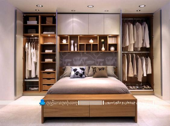 کمد و بوفه برای تزیین اتاق خواب. مدل های جدید شیک کمد دیواری ام دی اف