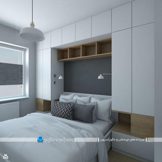 مدل کمد دیواری ام دی اف اتاق خواب جدید مدرن چوبی ام دی اف mdf