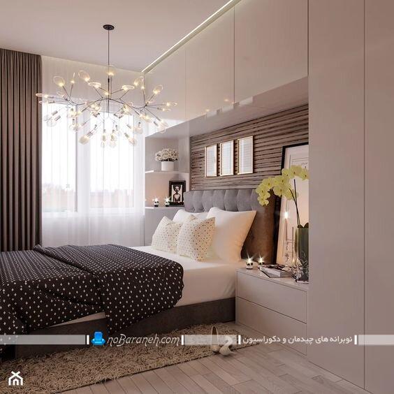 تزیین سرویس خواب با کمد دیواری و بوفه. مدل های جدید کمد دیواری اتاق خواب