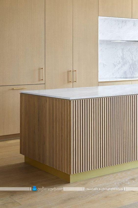 عکس مدل های جدید و شیک دیزاین چوبی آشپزخانه اپن و جزیره