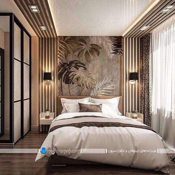 دیزاین مدرن و شیک بالای تخت خواب تزیین دیوار پشت تخت خواب تزیین دیوار بالای تخت تزیین دیوار پشت تخت تزیین دیوار کنار تخت خواب