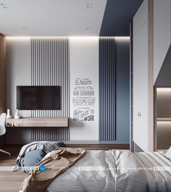 دیزاین شیک دیوار اتاق خواب عروس دکوراسیون اتاق خواب ساده و شیک دکوراسیون اتاق خواب کوچک